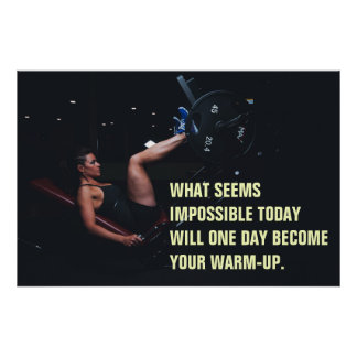 Girl Workout Motivational Gym Quote Poster