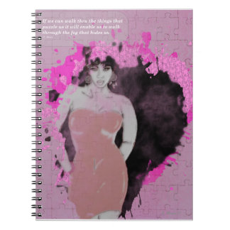 Girl Wrapped In Pink Puzzle Photo Notebook