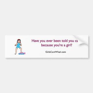 Girl Wrestler Bumper Sticker
