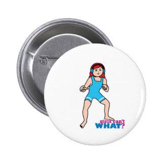 Girl Wrestler Button