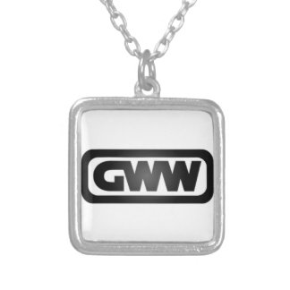Girl Writes What Logo Square Pendant Necklace