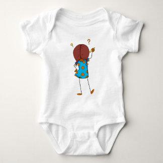 Girl writing baby bodysuit