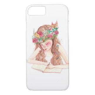 Girl writing book iPhone 8/7 case