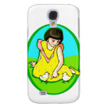 girl yellow dress two chicks oval galaxy s4 case