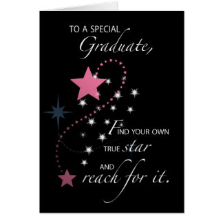 Girl, Young Woman, Graduation Star Congratulations Card