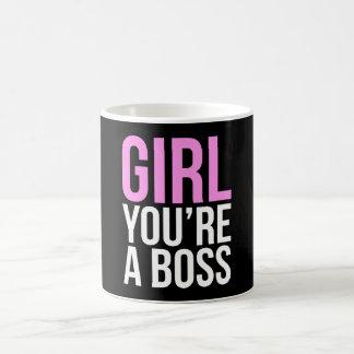 Girl you're a boss coffee mug