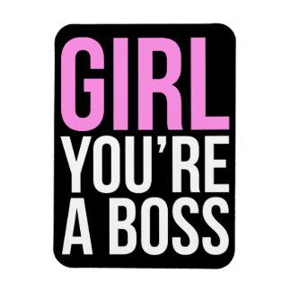 Girl you're a boss rectangular photo magnet