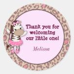 GIRL ZEBRA Tu Tu Cute Baby Shower blank TTC #8 Stickers
