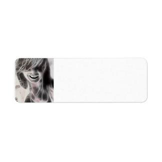 GirlFace 1 Custom Return Address Label