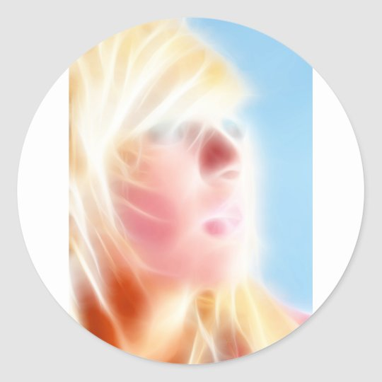GirlFace 2 Classic Round Sticker