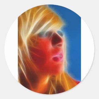 GirlFace 3 Classic Round Sticker