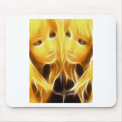 GirlFace 4 Mouse Pad
