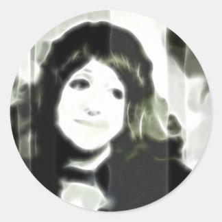 GirlFace 7 Classic Round Sticker