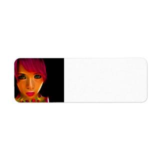 GirlFace 9 Etiqueta De Remite