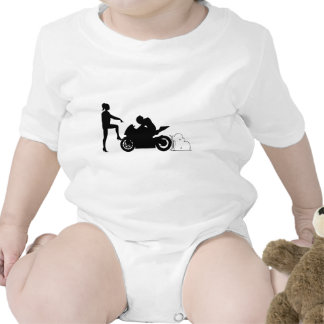Girlfriend and motorcycle rompers