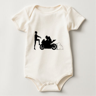 Girlfriend and motorcycle bodysuits