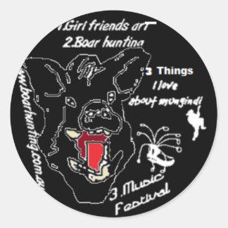 girlfriend art2 png round sticker