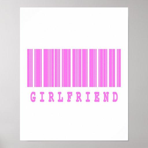 girlfriend barcode design poster
