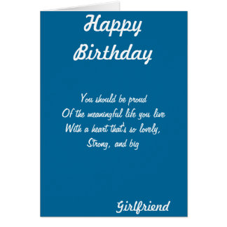 Girlfriend birthday greeting cards