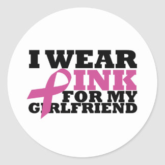 girlfriend classic round sticker