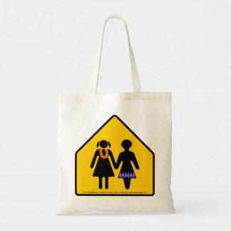 girlfriend crossing tote bag