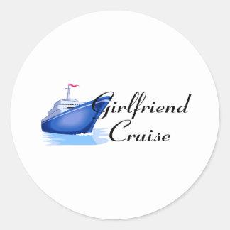Girlfriend Cruise Round Sticker