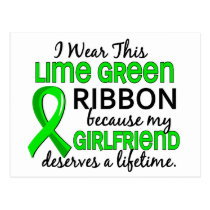 Girlfriend Deserves a Lifetime Lymphoma Postcard