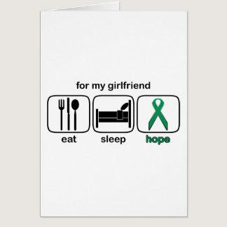 Girlfriend Eat Sleep Hope - Kidney Cancer Card