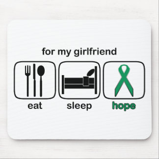 Girlfriend Eat Sleep Hope - Kidney Cancer Mouse Pad