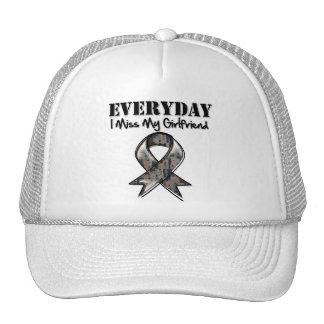 Girlfriend - Everyday I Miss My Hero Military Trucker Hat