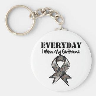Girlfriend - Everyday I Miss My Hero Military Keychain