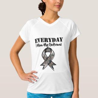 Girlfriend - Everyday I Miss My Hero Military T Shirts