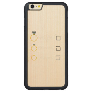 Girlfriend Fiancee Wife hen Party Zno5a Carved Maple iPhone 6 Plus Bumper Case