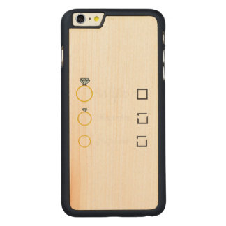 Girlfriend Fiancee Wife hen Party Zno5a Carved Maple iPhone 6 Plus Slim Case