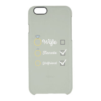 Girlfriend Fiancee Wife hen Party Zno5a Clear iPhone 6/6S Case