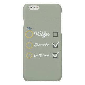 Girlfriend Fiancee Wife hen Party Zno5a Glossy iPhone 6 Case