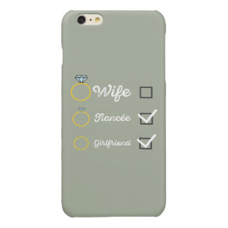 Girlfriend Fiancee Wife hen Party Zno5a Glossy iPhone 6 Plus Case