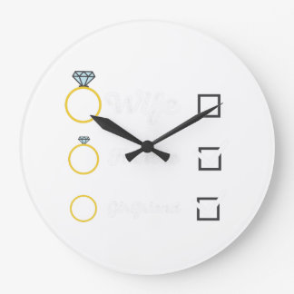 Girlfriend Fiancee Wife hen Party Zno5a Large Clock