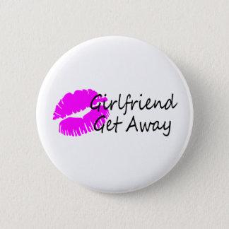 Girlfriend Get Away Pinback Button