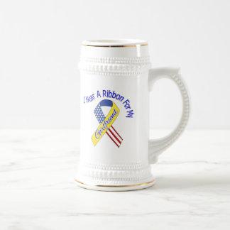 Girlfriend - I Wear A Ribbon Military Patriotic Beer Stein
