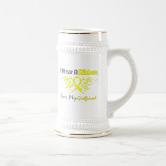 Girlfriend - I Wear A Yellow Ribbon Military Suppo Beer Stein