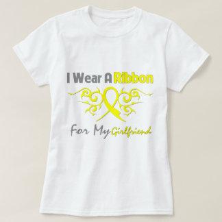 Girlfriend - I Wear A Yellow Ribbon Military Suppo T-shirt
