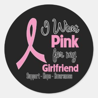 Girlfriend - I Wear Pink - Breast Cancer Sticker
