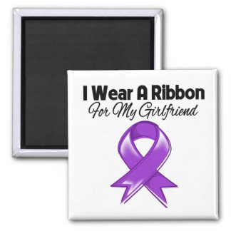 Girlfriend - I Wear Purple Ribbon Fridge Magnets