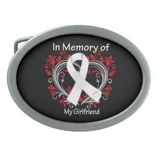 Girlfriend - In Memory Lung Cancer Heart Belt Buckles