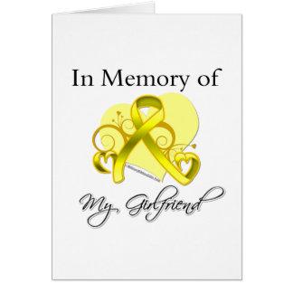 Girlfriend - In Memory of Military Tribute Card