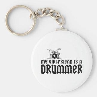 Girlfriend is a Drummer Keychain