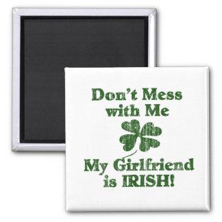Girlfriend is Irish 2 Inch Square Magnet