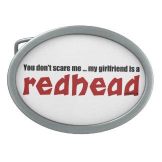 Girlfriend is Redhead Oval Belt Buckles