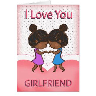 Girlfriend, Lesbian, Cute Loving African American Card